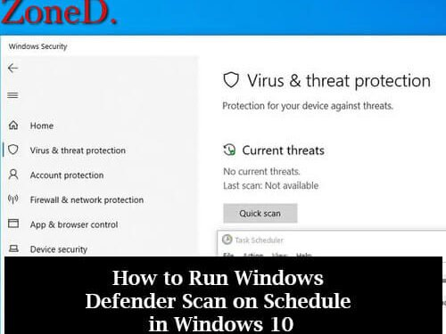 How to Run Windows Defender Scan on Schedule in Windows 10