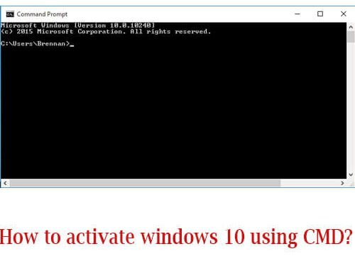 How to activate windows 10 using CMD