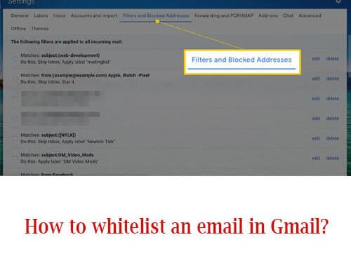 How to whitelist an email in Gmail