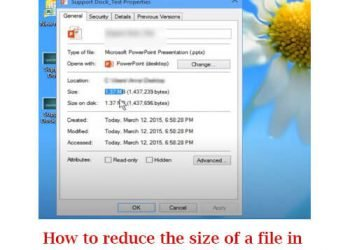How to reduce the size of a file in PowerPoint