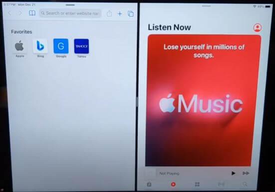 Remove Split Screen on iPad