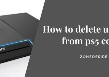 delete user profile from ps5 console