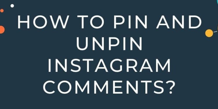 pin and unpin Instagram comments