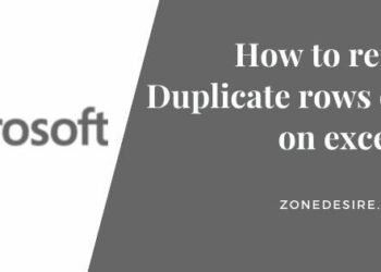 remove Duplicate rows or columns on excel