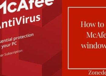 uninstall McAfee from windows 10 PC