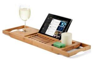 Premium Bamboo Bathtub Tray