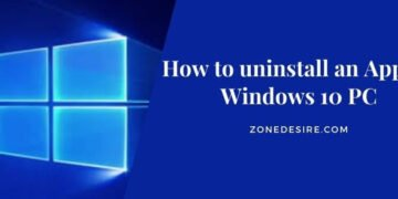 uninstall an App on Windows 10 PC