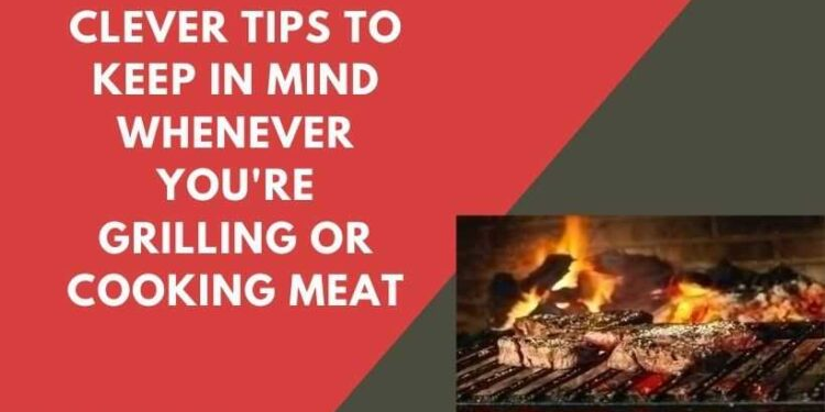 Grilling Or Cooking Meat