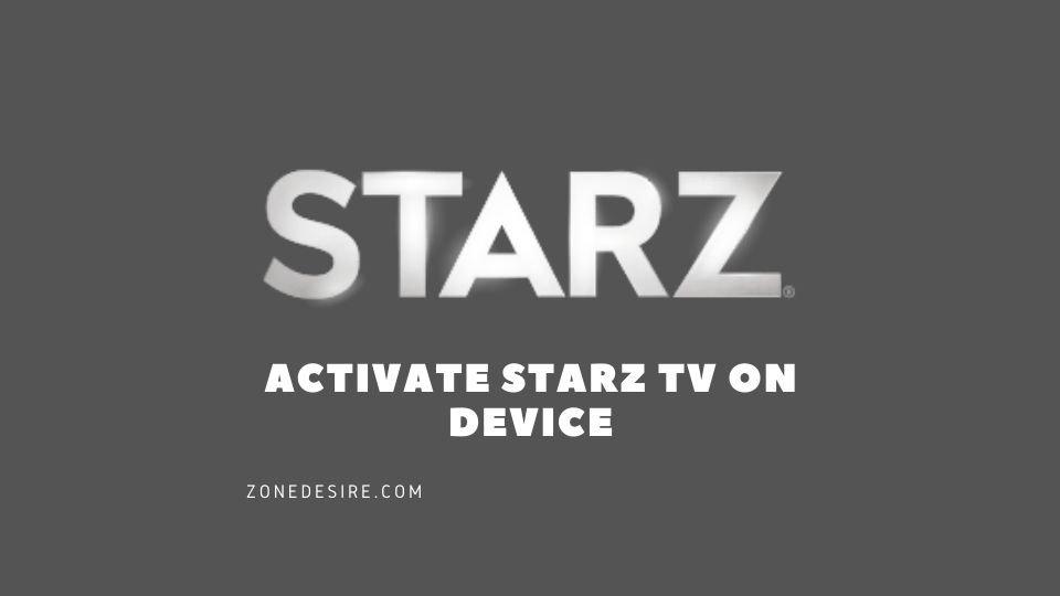 starz tv activate