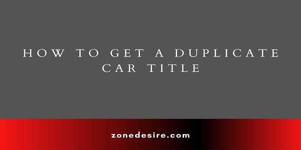 Duplicate Car Title