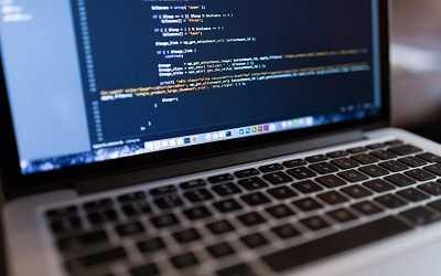 code in laptop