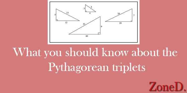 Pythagorean triplets